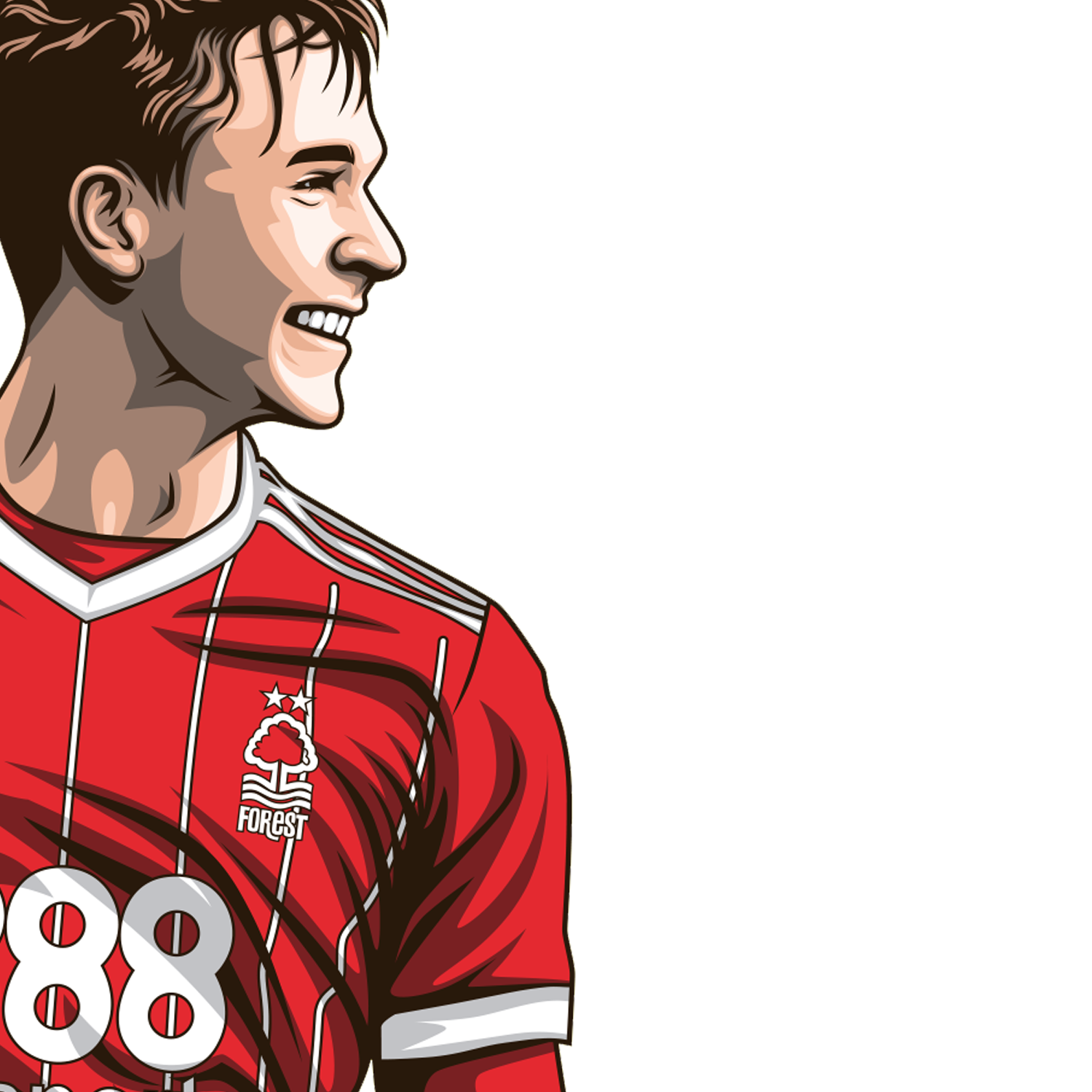Kieran Dowell Everton Loan Nottingham Forest Art Forest FanBase